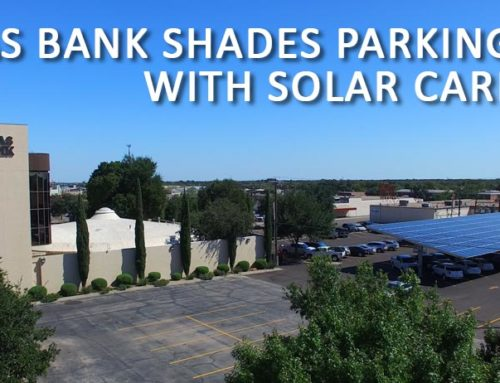 Texas Bank Shades Parking Lot with Solar Carport
