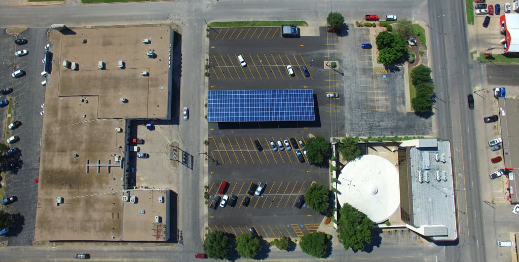 Texas Bank solar carport