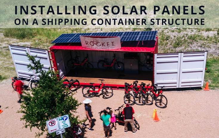 Solar Panels on a Shipping Container