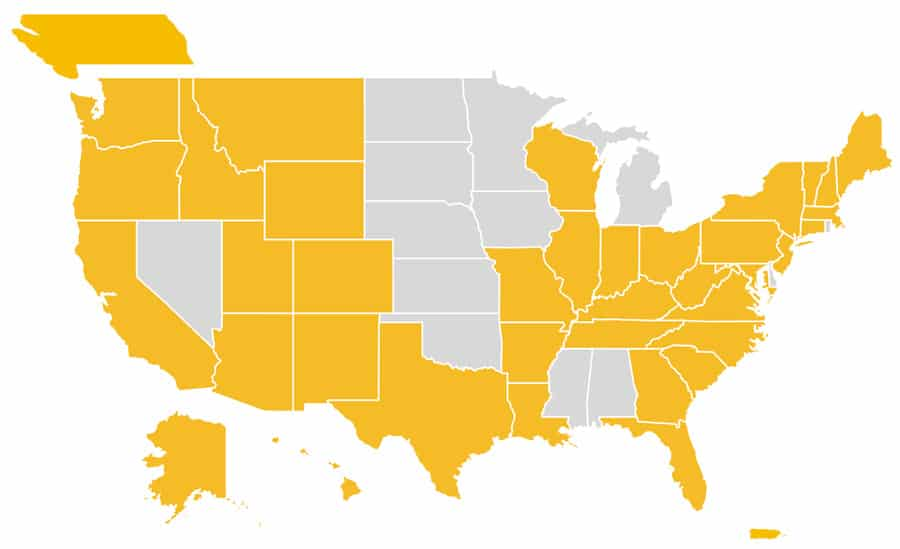 Amicus Solar Cooperative Member map