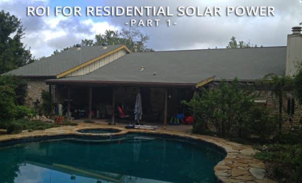 ROI for Residential Solar Power