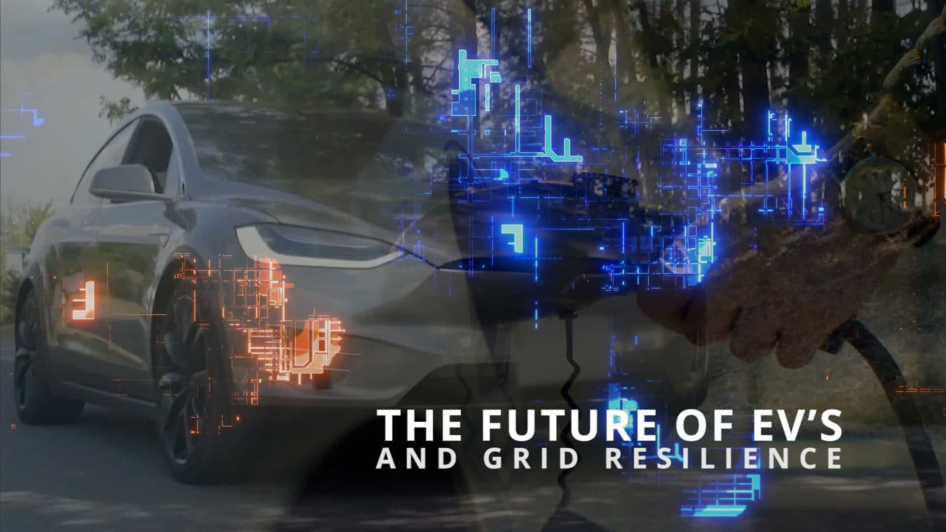 The Future of EV's and Grid Resilience motion graphic